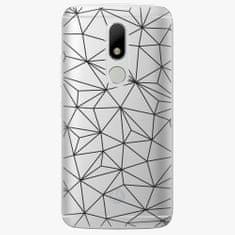 iSaprio Plastový kryt - Abstract Triangles 03 - black - Lenovo Moto M