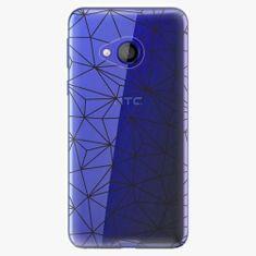 iSaprio Plastový kryt - Abstract Triangles 03 - black - HTC U Play