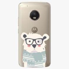 iSaprio Plastový kryt - Bear with Scarf - Lenovo Moto G5 Plus