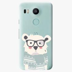 iSaprio Plastový kryt - Bear with Scarf - LG Nexus 5X