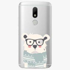 iSaprio Plastový kryt - Bear with Scarf - Lenovo Moto M
