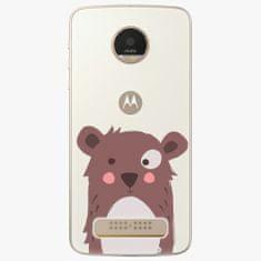 iSaprio Plastový kryt - Brown Bear - Lenovo Moto Z Play