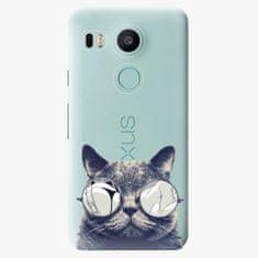 iSaprio Plastový kryt - Crazy Cat 01 - LG Nexus 5X