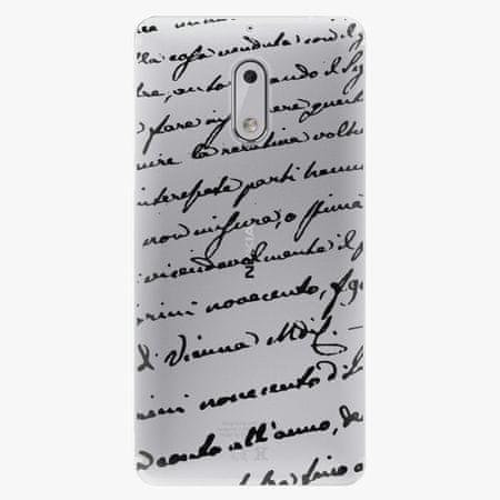 iSaprio Plastový kryt - Handwriting 01 - black - Nokia 6