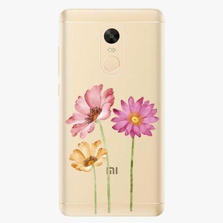 iSaprio Plastový kryt - Three Flowers - Xiaomi Redmi Note 4X