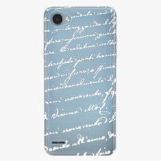 iSaprio Plastový kryt - Handwriting 01 - white - LG Q6
