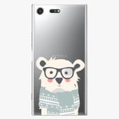 iSaprio Plastový kryt - Bear with Scarf - Sony Xperia XZ Premium