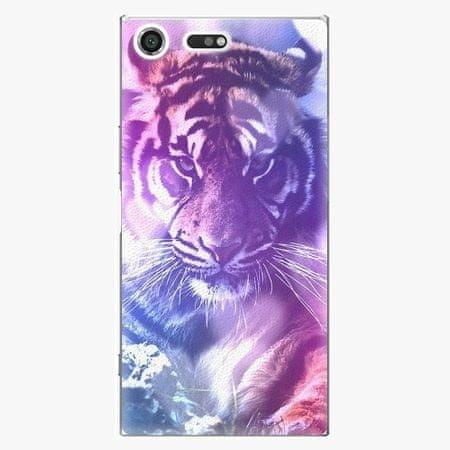 iSaprio Plastový kryt - Purple Tiger - Sony Xperia XZ Premium