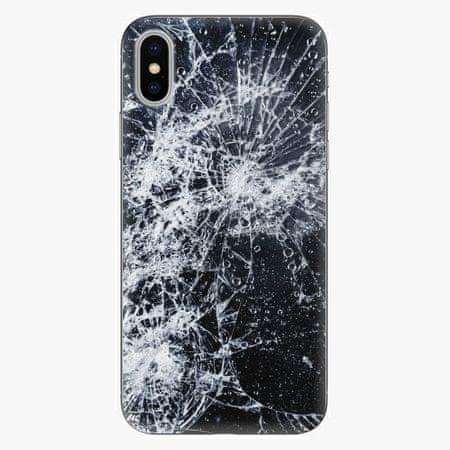 iSaprio Plastový kryt - Cracked - iPhone X