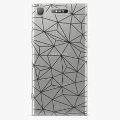 iSaprio Plastový kryt - Abstract Triangles 03 - black - Sony Xperia XZ1
