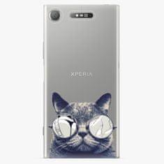iSaprio Plastový kryt - Crazy Cat 01 - Sony Xperia XZ1