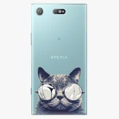 iSaprio Plastový kryt - Crazy Cat 01 - Sony Xperia XZ1 Compact