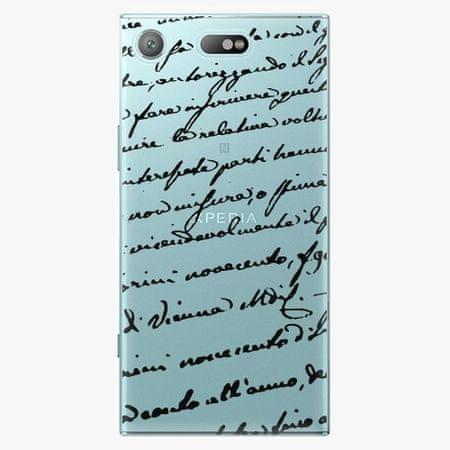 iSaprio Plastový kryt - Handwriting 01 - black - Sony Xperia XZ1 Compact