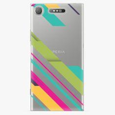 iSaprio Plastový kryt - Color Stripes 03 - Sony Xperia XZ1