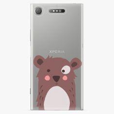 iSaprio Plastový kryt - Brown Bear - Sony Xperia XZ1