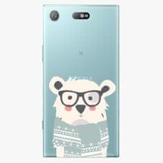 iSaprio Plastový kryt - Bear with Scarf - Sony Xperia XZ1 Compact