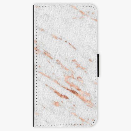 iSaprio Flipové pouzdro - Rose Gold Marble - iPhone 8 Plus