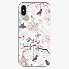 iSaprio Silikonové pouzdro - Birds - iPhone X