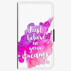 iSaprio Flipové pouzdro - Believe - iPhone X