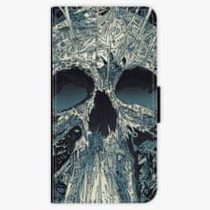 iSaprio Flipové pouzdro - Abstract Skull - iPhone X