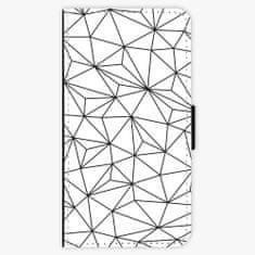 iSaprio Flipové pouzdro - Abstract Triangles 03 - black - iPhone X
