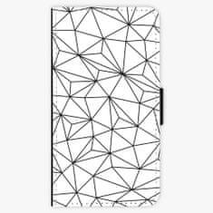 iSaprio Flipové pouzdro - Abstract Triangles 03 - black - Samsung Galaxy A3