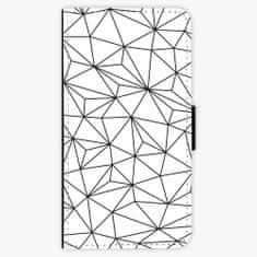 iSaprio Flipové pouzdro - Abstract Triangles 03 - black - Huawei P10 Plus