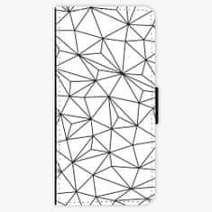 iSaprio Flipové pouzdro - Abstract Triangles 03 - black - Sony Xperia XA