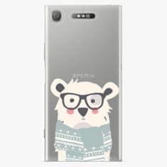iSaprio Plastový kryt - Bear with Scarf - Sony Xperia XZ1
