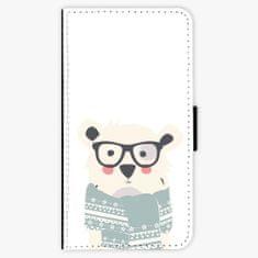 iSaprio Flipové pouzdro - Bear with Scarf - Samsung Galaxy A3