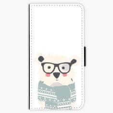iSaprio Flipové pouzdro - Bear with Scarf - iPhone 7 Plus