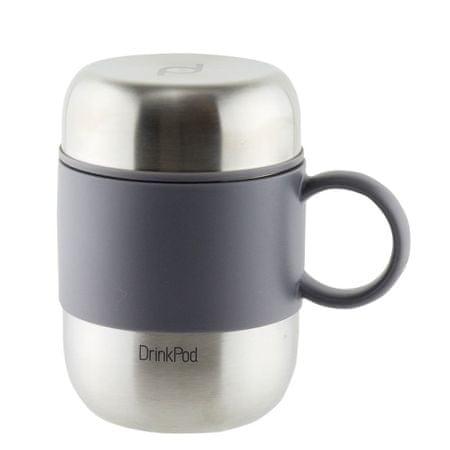 Pioneer DrinkPod füles thermo bögre ezüst, 280ml