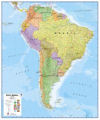 Jižní Amerika - nástěnná politická mapa 100 x 120 cm