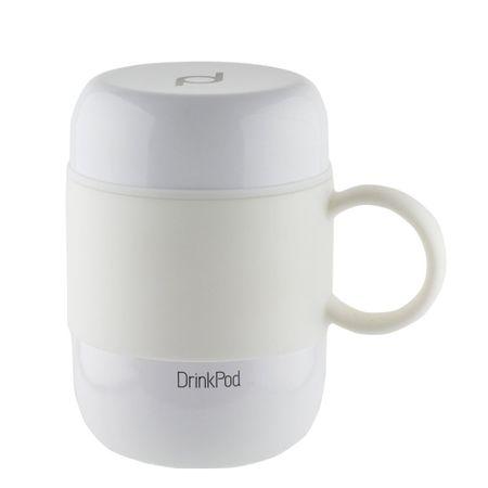 Pioneer termo skodelica DrinkPod z ročajem, 280 ml, bela