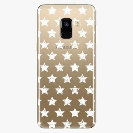 iSaprio Plastový kryt - Stars Pattern - white - Samsung Galaxy A8 2018
