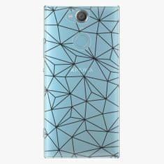 iSaprio Plastový kryt - Abstract Triangles 03 - black - Sony Xperia XA2