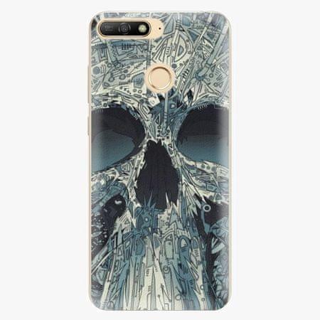 iSaprio Silikonové pouzdro - Abstract Skull - Huawei Y6 Prime 2018