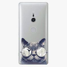 iSaprio Plastový kryt - Crazy Cat 01 - Sony Xperia XZ2