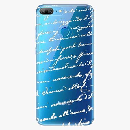 iSaprio Plastový kryt - Handwriting 01 - white - Huawei Honor 9 Lite