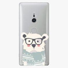 iSaprio Plastový kryt - Bear with Scarf - Sony Xperia XZ2