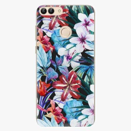 iSaprio Silikonové pouzdro - Tropical Flowers 05 - Huawei P Smart