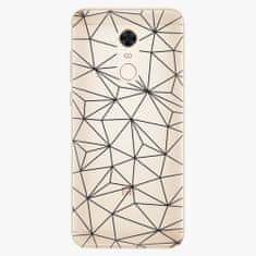 iSaprio Plastový kryt - Abstract Triangles 03 - black - Xiaomi Redmi 5 Plus