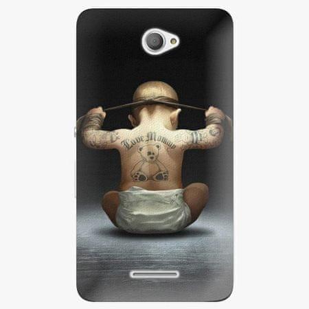 iSaprio Plastový kryt - Crazy Baby - Sony Xperia E4