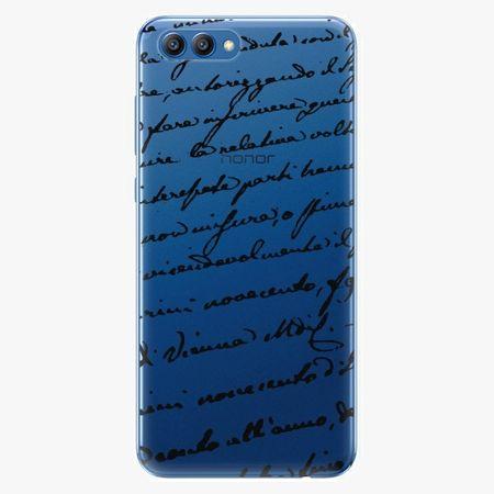 iSaprio Plastový kryt - Handwriting 01 - black - Huawei Honor View 10