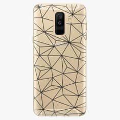 iSaprio Plastový kryt - Abstract Triangles 03 - black - Samsung Galaxy A6 Plus