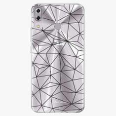 iSaprio Plastový kryt - Abstract Triangles 03 - black - Asus ZenFone 5 ZE620KL
