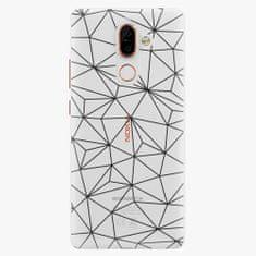 iSaprio Plastový kryt - Abstract Triangles 03 - black - Nokia 7 Plus