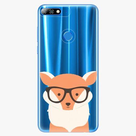 iSaprio Silikonové pouzdro - Orange Fox - Huawei Y7 Prime 2018