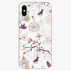 iSaprio Silikonové pouzdro - Birds - iPhone XS