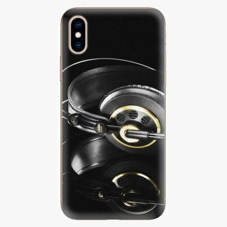 iSaprio Silikonové pouzdro - Headphones 02 - iPhone XS